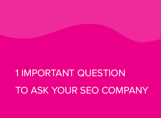 1 Important Question to Ask Your SEO Company