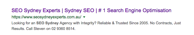 seo sydney experts title example